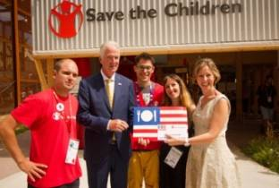 Il padiglione USA sostiene Save The Children