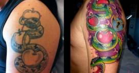 Cover up Tattoo, cosi' i tatuatori rimediano a disastri piu' clamorosi