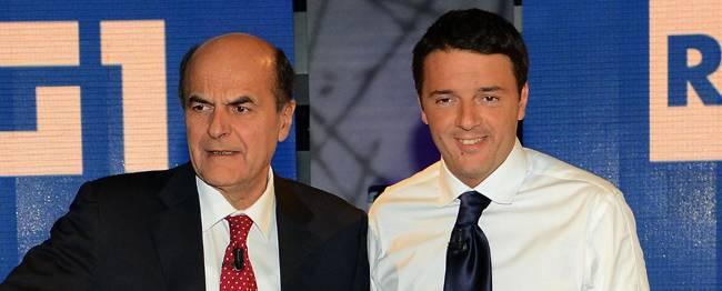 """Duello Tv, Renzi: """"Andiamo avanti con persone nuove"""". </br>Bersani: """"Basta con le promesse e i personalismi"""""""