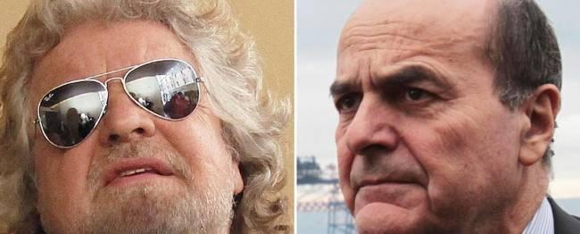 """Grillo: """"Bersani smacchiatore fallito, no alla fiducia al Pd"""" La replica del segretario: """"Venga a dirmelo in Parlamento"""""""
